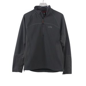 North Face 3/4 Zip Pull Over Fleece Softshell  Blk